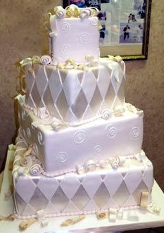Stylish Silver Wedding Cake Designs