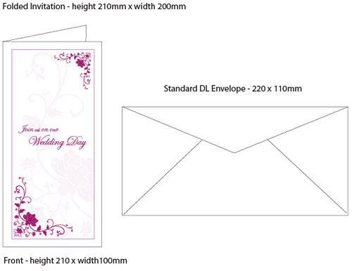 Wedding Invitation Size And Get Ideas How To Make Your With Prepossessing Appearance 5