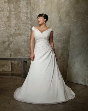 plus size bridal gown, mori lee 3052