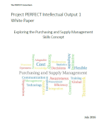 The Project PERFECT Intellectual Output 1 White Paper