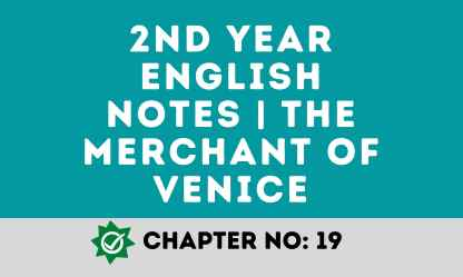 2nd year English notes   The Merchant of Venice