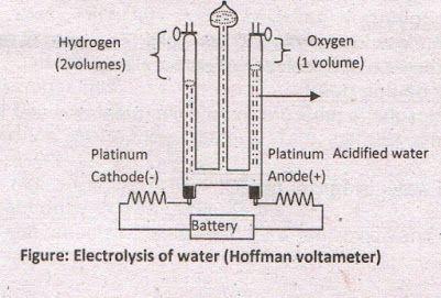 Electrolysis of water hoffman voltameter 1