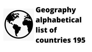 195 List of Countries of the world