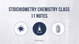 Stoichiometry Chemistry Class 11 Notes