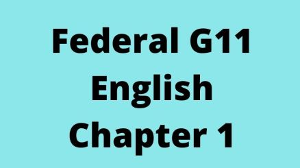 Federal G11 English Chapter 1 Responsibilities of the Youth