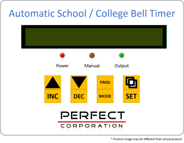 Automatic School Bell Timer Perfect Corporation Indore. Automatic School Bell. Wiring. School Bell Wire Diagram At Scoala.co