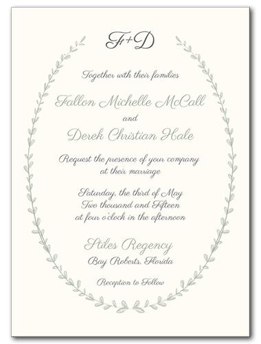 Wedding Invitations Barnyard Wreath Invitation
