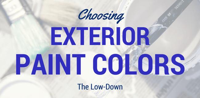 Choosing Exterior Paint Colors