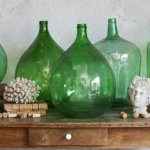 demijohns, decorating, vintage decor, glass bottles