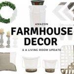 Farmhouse Decor, Budget farmhouse decor, farmhouse style, cheap farmhouse decor, amazon farmhouse, gray living room, living room update, farmhouse living room, rustic decor, amazon rustic decor, rustic living room
