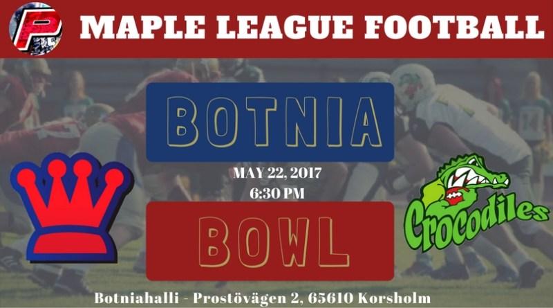 Wasa Royals Host the Seinäjoki Crocodiles for Botnia Bowl 2017