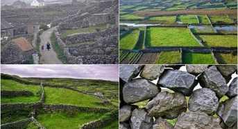 Πέτρινα τοιχία ζωγραφίζουν τα χωράφια της Ιρλανδίας