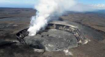 Πτήση πάνω από τον κρατήρα του Κιλαουέα που καταρρέει