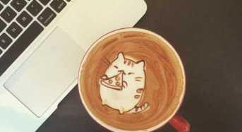 Εξαιρετικά λεπτομερή σχέδια στο αφρόγαλα του καφέ!