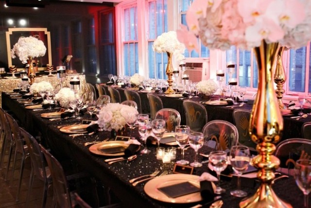 Black and Gold Party Inspiration by Elle's Couture Events 68