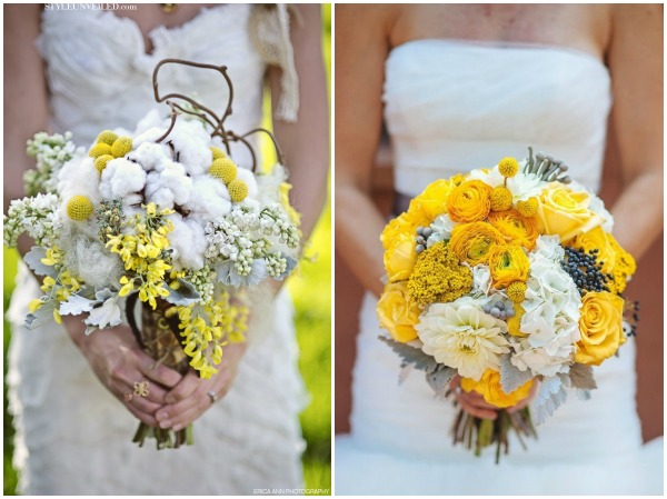 1. Floral Designs by Alicia, Erica Ann Photography via Style Unveiled | 2. Urban Safari Photography via Aisle Perfect