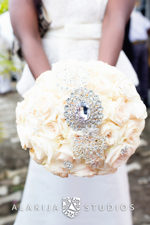 Rose and Brooch Bouquet