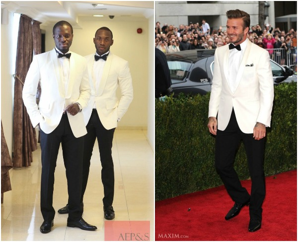 White Tuxedo Groom Trend