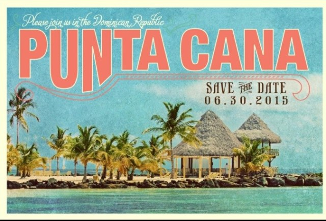 Punta Cana Save the Date -Audrey