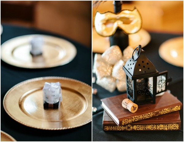 Black and Gold Wedding by Kristen Curette
