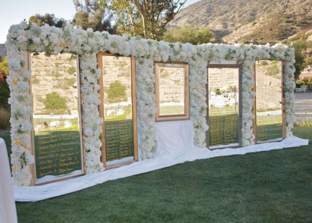 Mirror Seating Chart by Fancy That Events