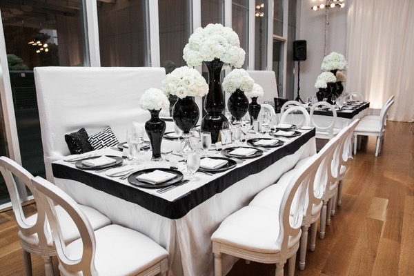Modern Black and White Museum Wedding 113
