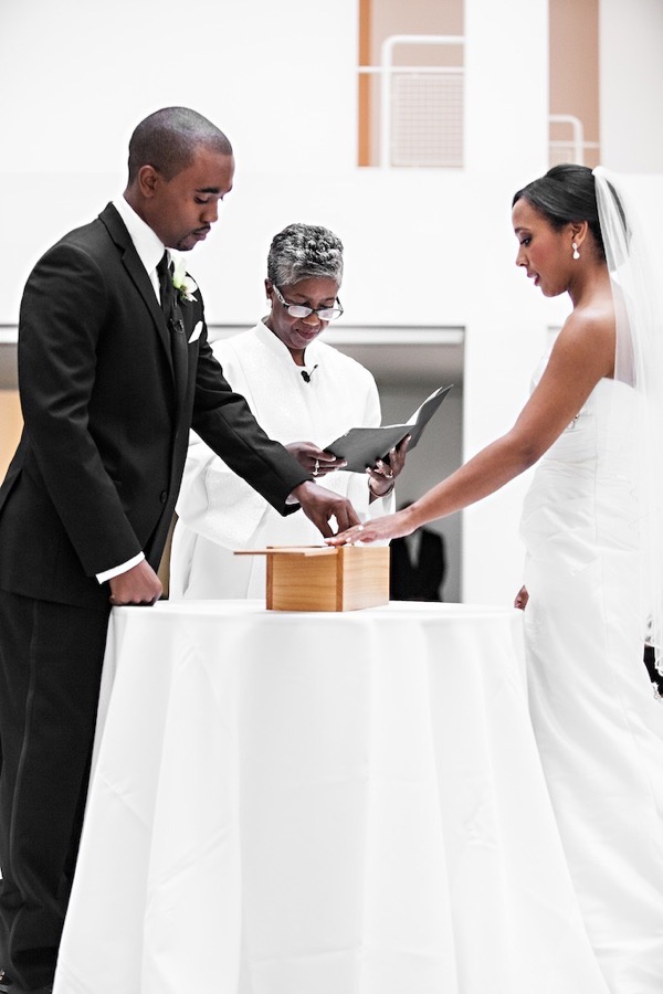 Modern Black and White Museum Wedding 36