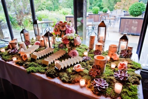 Greenery Escort Card Table -Designs by Ahn
