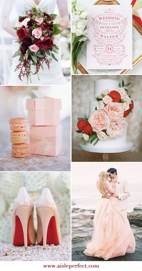 red and blush inspiration board