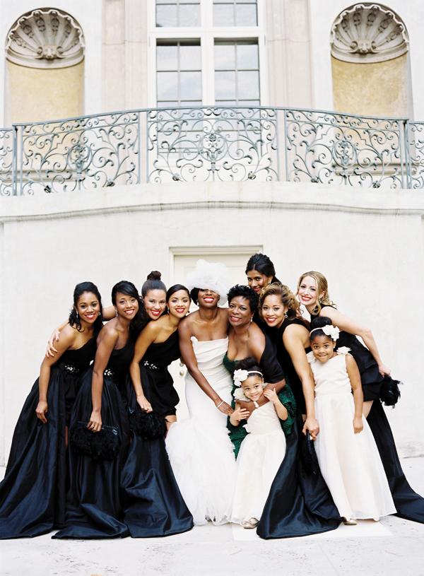 Black and White Bride_Bridesmaids