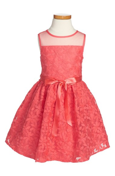 Us Angles Sleeveless Embroidered Floral Organza Lace Dress at Nordstrom.