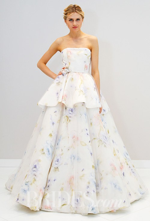 Randi Rahm Floral Wedding Dress