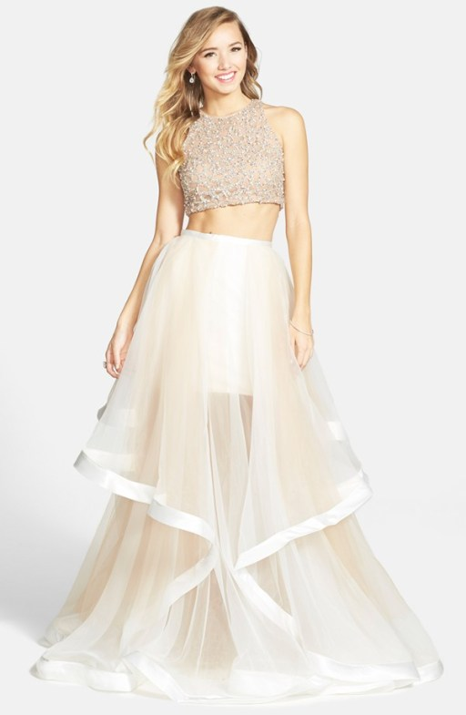 Terani Couture Crop Top Wedding Gown