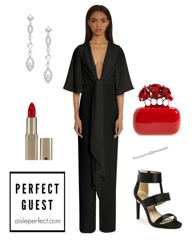 How to wear black- wedding guest