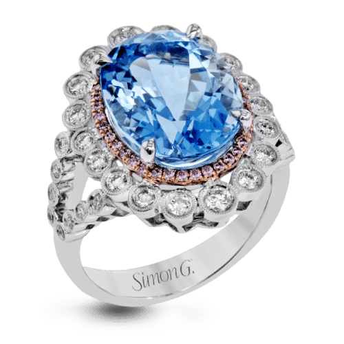 Simon-G.-white-and-rose-gold-white-and-pink-diamonds-and-aquamarine-right-hand-cocktail-ring-LR1023