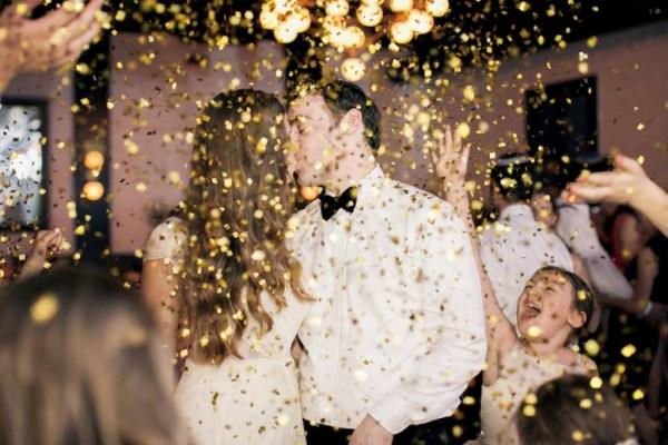 Confetti drop - new year's eve wedding