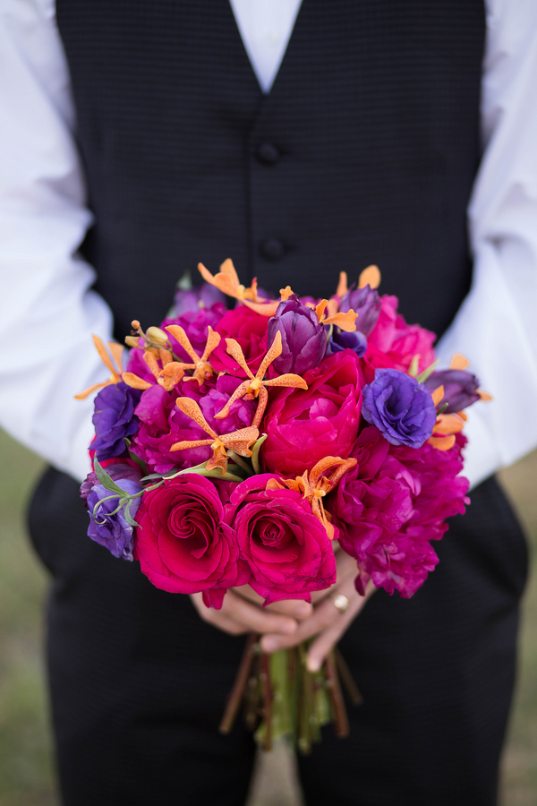 Vibrant Purple and Gold Styled Shoot 4