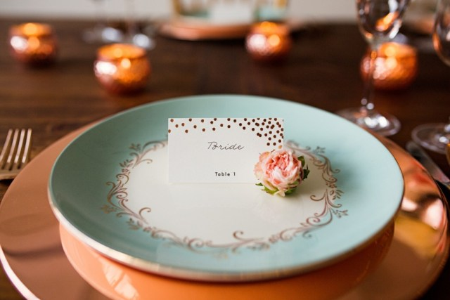 Rustic Glam Mint and Gold Wedding Inspiration with Minted 23