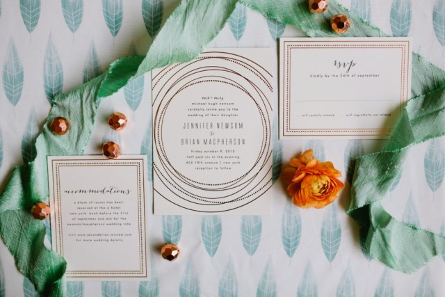 Rustic Glam Mint and Gold Wedding Inspiration with Minted 49