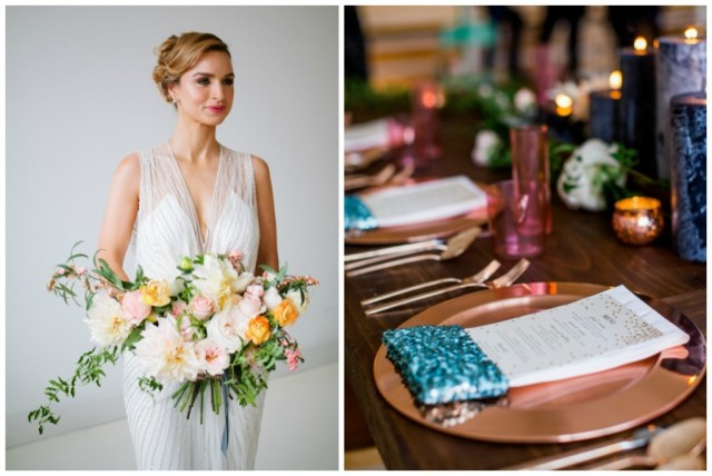 Styled Mint and Gold Wedding inspiration