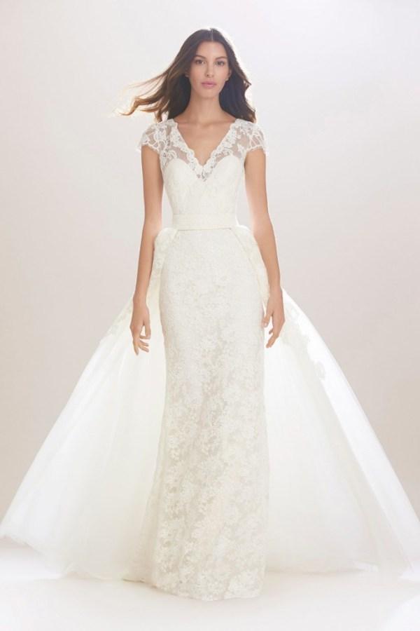 Carolina Herrera Over Skirt Wedding Dress