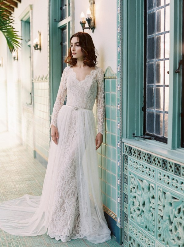 overskirt wedding dress- sareh nouri
