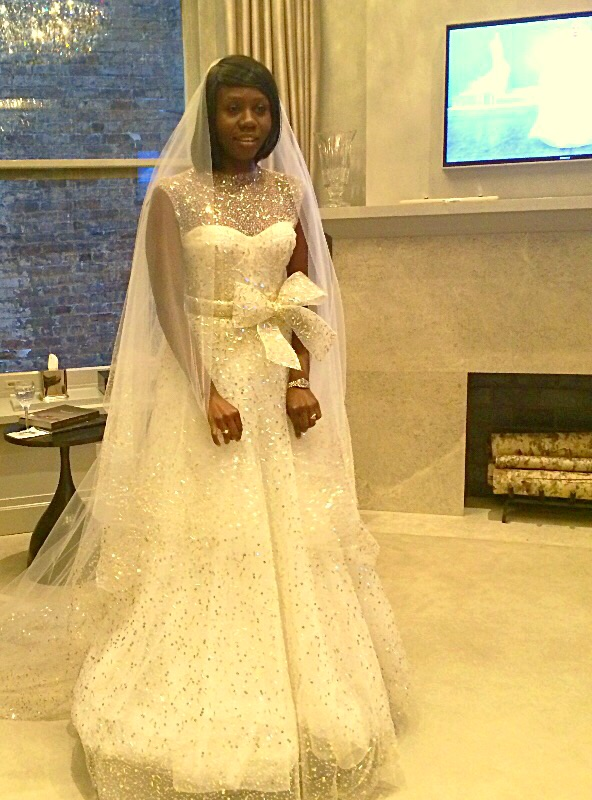 Monique L'Huillier Wedding Dress with embellishment