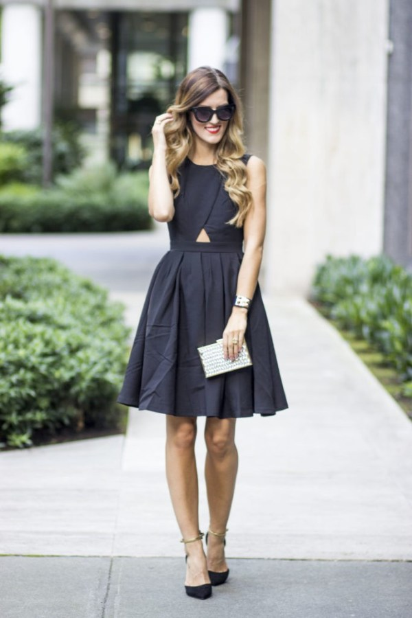 Black Summer Wedding Guest outfit