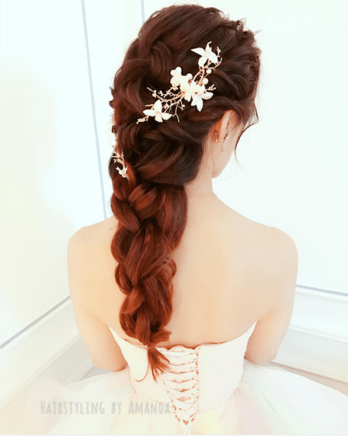 braided-ponytail-bridal