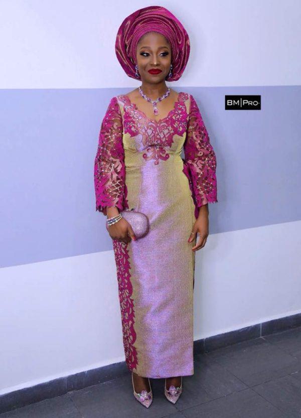 Yoruba traditional bride in Deola Sagoe aso oke