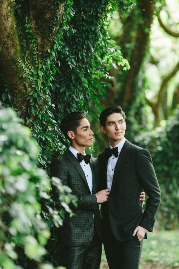 two grooms wedding portrait ideas