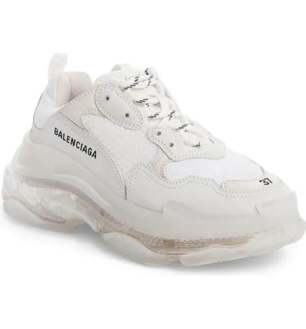 Balenciaga white sneakers for women