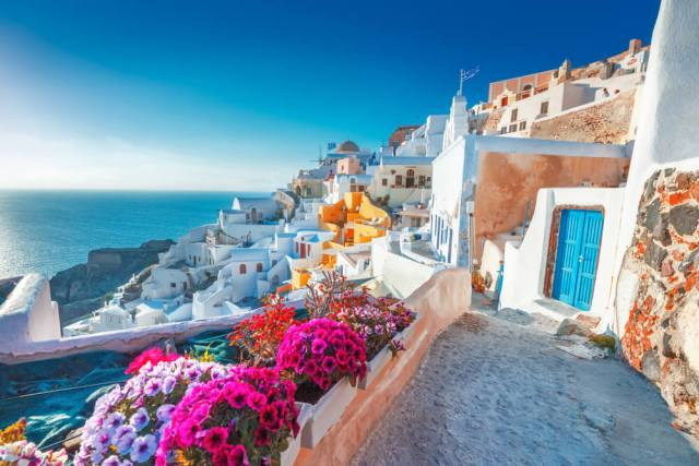 Santorini wedding location
