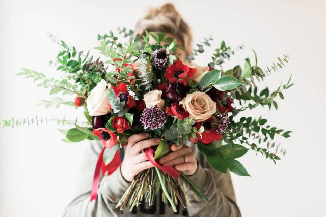 Loose Fall Wedding Bouquet